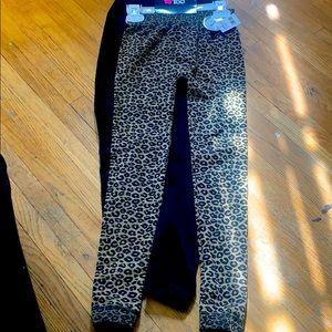 Limited too 2pk fleece lined leggings size 7-16